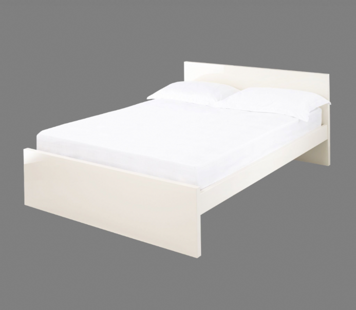Puro King Size Bed Frame - Cream